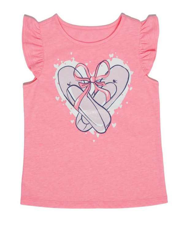 Toddler Girls Short Sleeve Graphic Tee