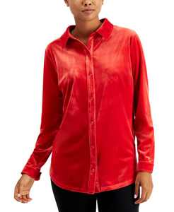 Velour Button-Down Shirt, Created for Macy's