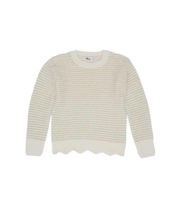 Big Girls Scalloped Hem Sweater