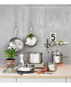 Classic Stainless Steel 10-Pc. Cookware Set