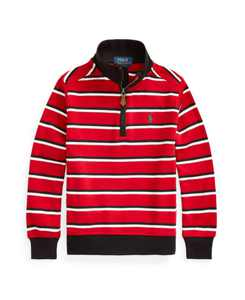 Toddler Boys Striped Quarter-Zip Pullover