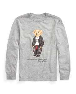 Little Boys Moto Bear Jersey Tee