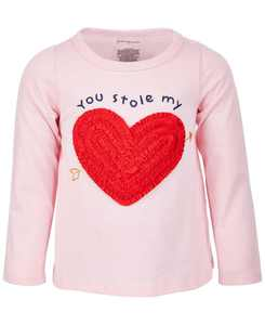 Baby Girls Stole My Heart Long-Sleeve Cotton Top, Created for Macy's