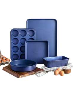 Pro 0.8MM Gauge Diamond and Mineral Infused Nonstick 5-Pc. Bakeware Set