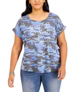 Printed Peace Sign T-Shirt, Created for Macy's