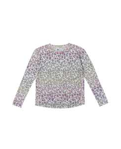 Big Girls Long Sleeve All Over Print High-Low Snit Top