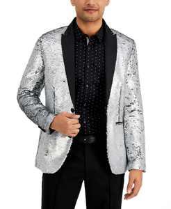 Men's Slim-Fit Sequin Blazer, Created for Macy's