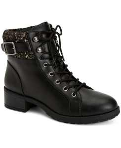 Gaiel Lace-Up Cold-Weather Lug Sole Booties, Created for Macy's