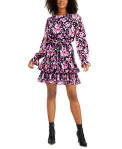 Floral-Print Ruffled-Hem Dress, Created for Macy's
