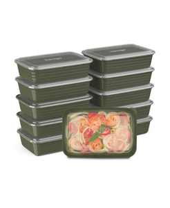 Food Prep 1-Compartment Food Storage Containers, Pack of 10