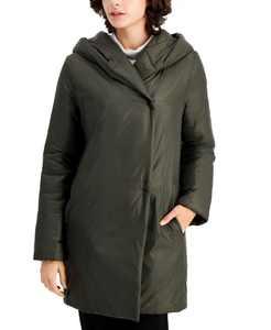 Hooded Shawl-Collar Coat