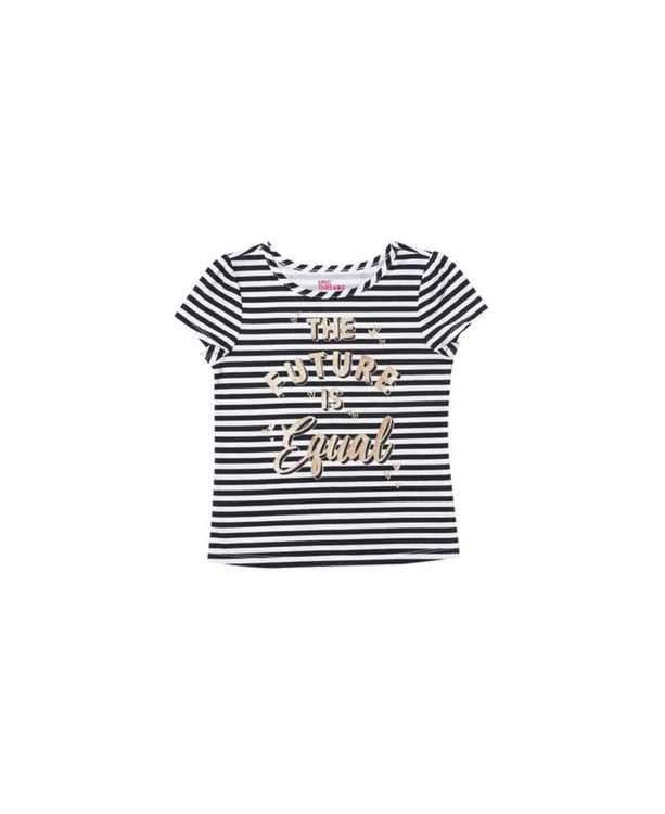 Little Girls Graphic with Text Tee
