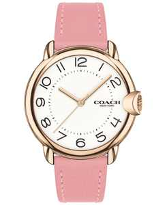 Women's Arden Pink Leather Strap Watch 36mm