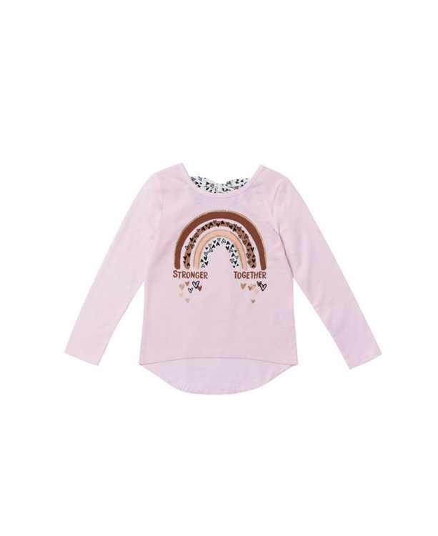 Toddler Girls Graphic with Text Hi-Low Tee