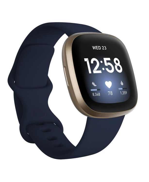 Versa 3 Midnight Blue Strap Smart Watch 39mm