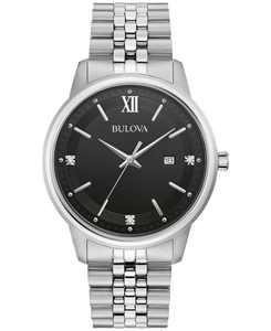 Men's Diamond Accent Stainless Steel Bracelet Watch 41mm