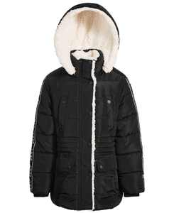 Big Girls Puffer Coat with Fleece Lining
