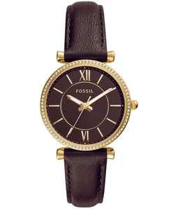 Women's Carlie Brown Leather Strap Watch 35mm