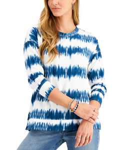 Tie-Dyed Stripe Sweatshirt, Created for Macy's