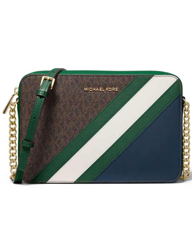 Jet Set Large Signature East West Crossbody