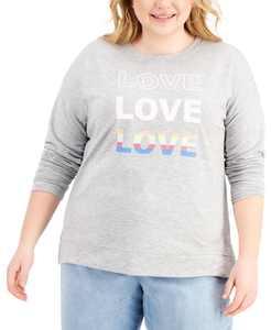 Love Crewneck Sweatshirt, Created for Macy's