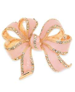 Rose Gold-Tone Pavé Colored Bow Pin, Created for Macy's