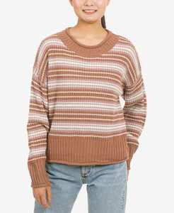 Juniors' Striped Crewneck Sweater