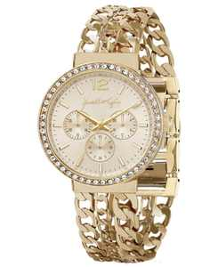 Women's Triple Link Gold Tone Stainless Steel Strap Analog Watch 40mm