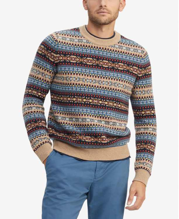 Men's Bennett Regular-Fit Fair Isle Sweater