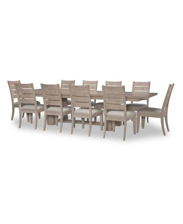 Milano 11pc Dining Set(Table & 10 Ladder Back Side Chairs)