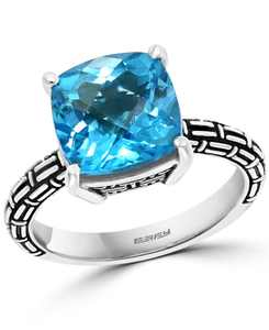EFFY Blue Topaz or Citrine Statement Ring (4-1/2 ct. t.w.) in Sterling Silver