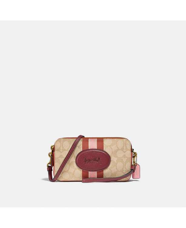 Kira Crossbody In Signature Jacquard With Coach Branding