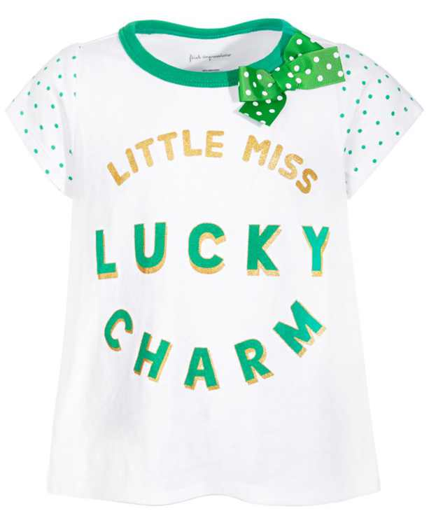 Baby Girls Lucky Charm T-Shirt, Created for Macy's
