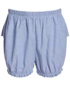 Baby Girls Cotton Chambray Ruffle Bloomers, Created for Macy's