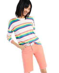Petite Stripe-Print Top, Created for Macy's