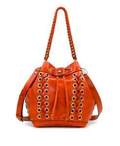 Martina Leather Drawstring Bag