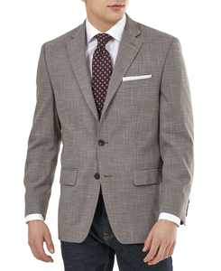 Men's UltraFlex Tan & Brown Plaid Sport Coat