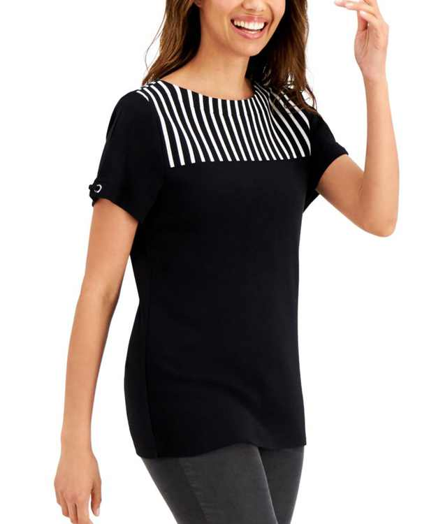 Cotton Striped Top, Created for Macy's