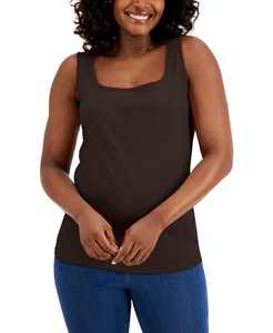 Cotton Square-Neck Tank Top, Created for Macy's