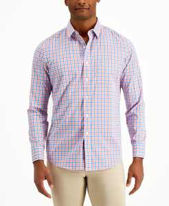 Men's Performance Plaid Shirt with Pocket, Created for Macy's