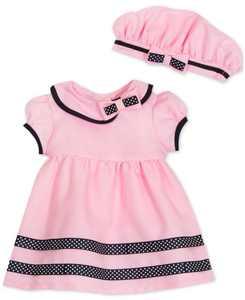 Baby Girls Nautical Dress & Hat Set