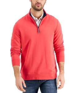 Men's 1/4-Zip Fleece Sweatshirt, Created for Macy's