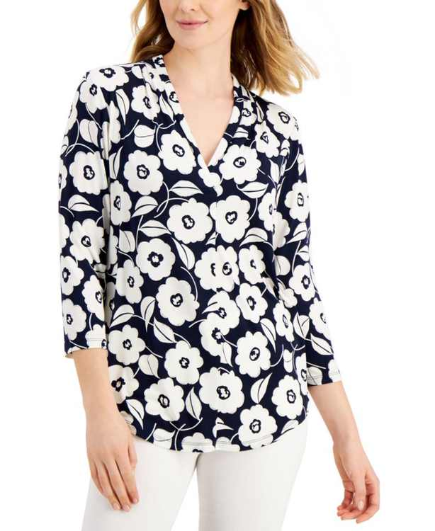 Petite Floral Shirt, Created for Macy's