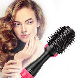 Meidong Hair Dryer Brush - Hot Air Brush with ION Generator and Ceramic Coating for Fast Drying, Hair Styler with Salon Diffuser Results, Perfect One Step Hair Dryer and Volumizer for All Hair Types