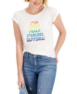 Scoop-Neck Graphic Top, Created for Macy's
