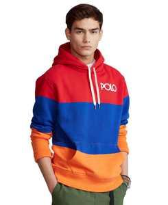 Men's Color-Blocked Fleece Hoodie