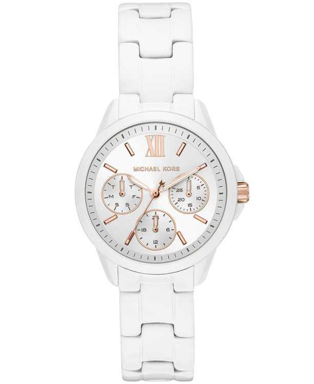 Women's Mini Bradshaw Multifunction White Stainless Steel Bracelet Watch 34mm