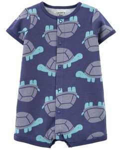 Baby Boys Turtle Snap-Up Romper