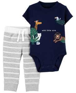 Baby Boys Animal Bodysuit and Pant Set