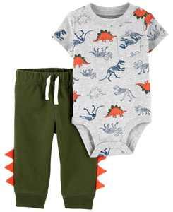 Baby Boys Dinosaur Bodysuit and Pant Set, 2 Pieces